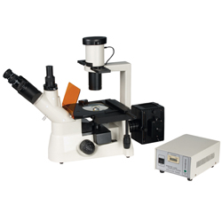 Trinocular Inverted Biological Influorescence Microscope for Lab Research and Medical Use