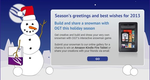 Build and dress a snowman with OGT's interactive Share-a-Snowman Game