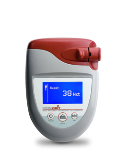 The UltraCrit is the first and only hematocrit/hemoglobin device to use ultrasound technology