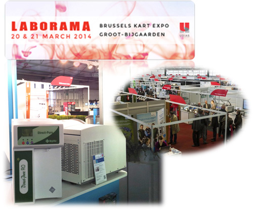 RephiLe products including Direct-Pure lab water systems were showcased in Laborama 2014 at Brussels Kart Expo in Belgium on March 20th -21st.