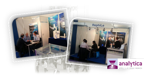 RephiLe successfully presented at analytica 2014, from 1st - 4th April in Munich Germany. This is one of the largest trade fair for laboratory technology, analysis and biotechnology. It drew 34,400 visitors from the globe this year.