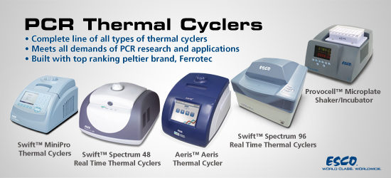 Esco offers a choice of Conventional Thermal Cycler and Real Time Thermal Cycler models