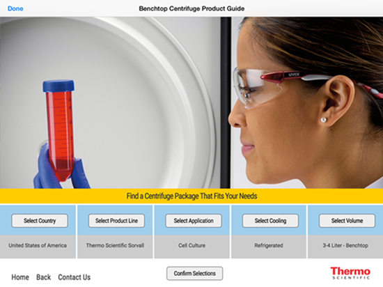 Benchtop-Centrifuge-Product-Guide-Selector-Screen